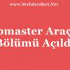 Webmaster Araçları Bölümümüz Açıldı