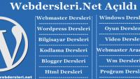 WebDersleri.Net Açıldı