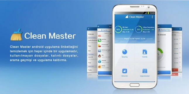 Clean Master – Android Hızlandırma ve Bellek Temizleme Programı