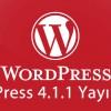 WordPress 4.1.1 Yayınlandı