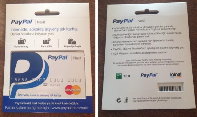 PayPal Nakit Kart İçin Yaş Sınırı Varmı ?