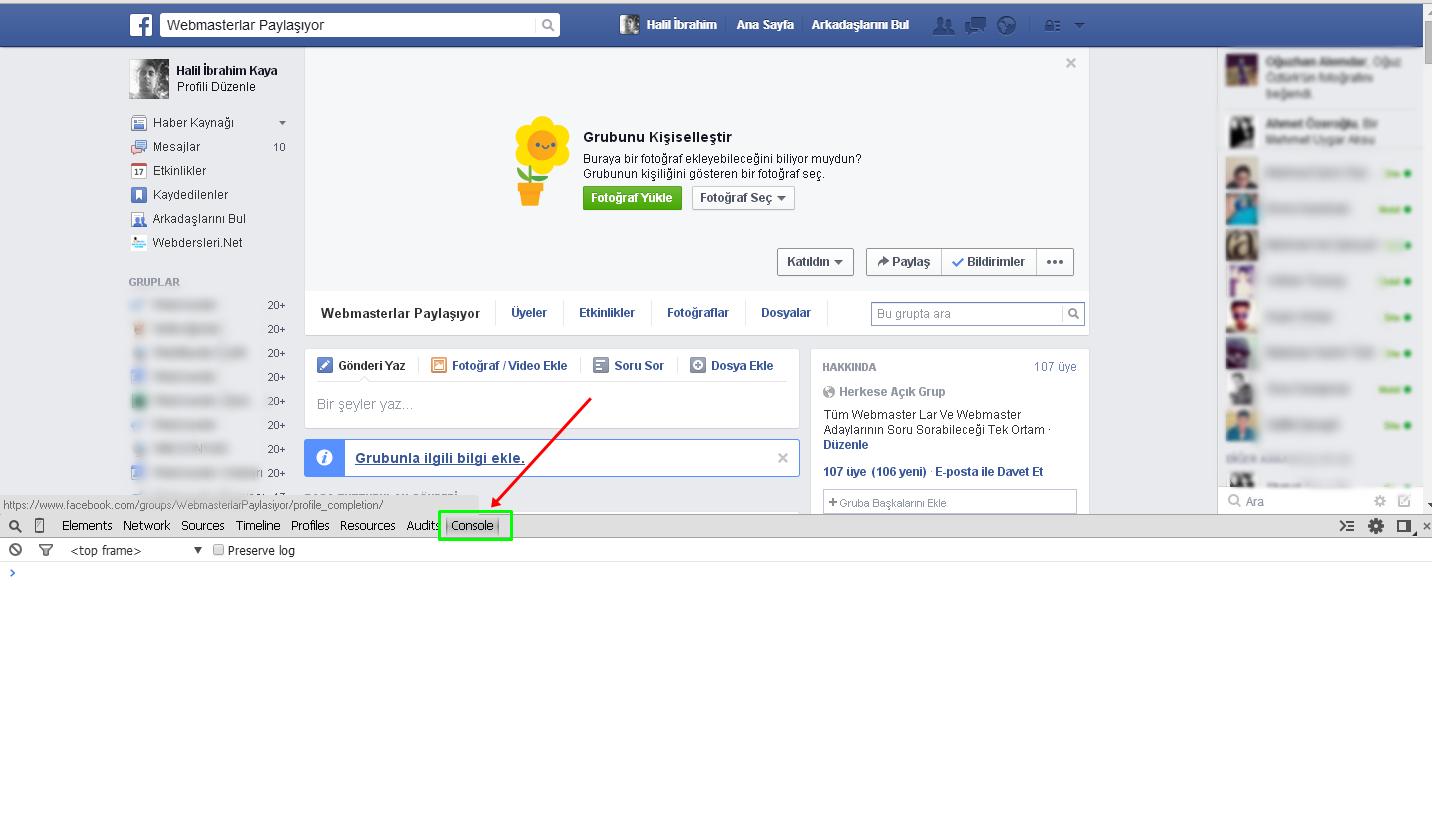 Facebook Gruba Tüm Arkadaşları Ekleme