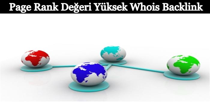 Pagerank Değeri Yüksek Whois Backlink