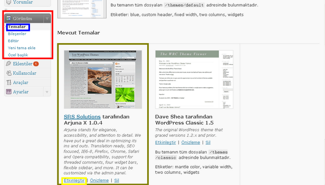 WordPress Tema Nasıl Yüklenir