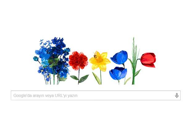 Google, Google'dan bahara özel doodle